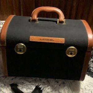 Lancel Paris Leather Train Case